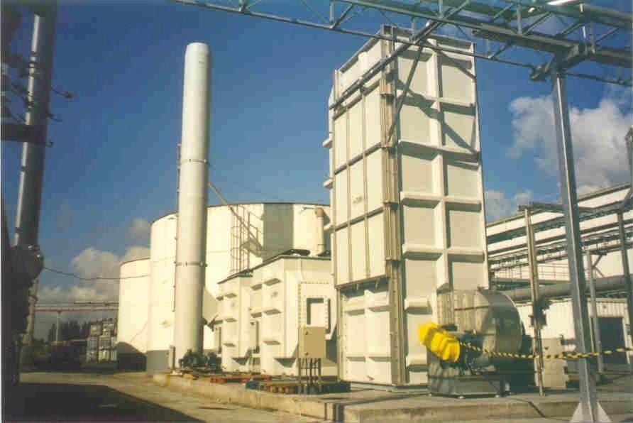 Gaswasinstallatie voor bestrijding tegen geur