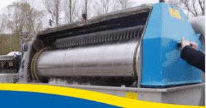 Roto-Sieve Fiberglass deksel voor snelle inspectie